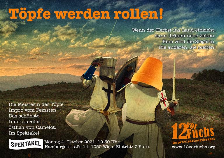 Töpfe werden rollen - am 04.10.2021 um 19.30 Uhr im Spektakel, Wien